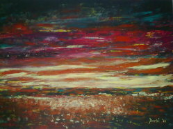 Esplosione di colori - acrilico su tela con le dita -  60x40 - 2010